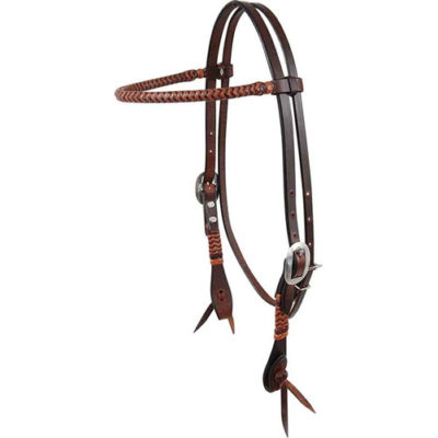 Martin Saddlery Browband Headstall with Braiding