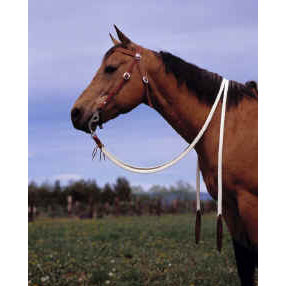 "Double Diamond 1"" x 7' Flat Waxed Nylon Split Reins"
