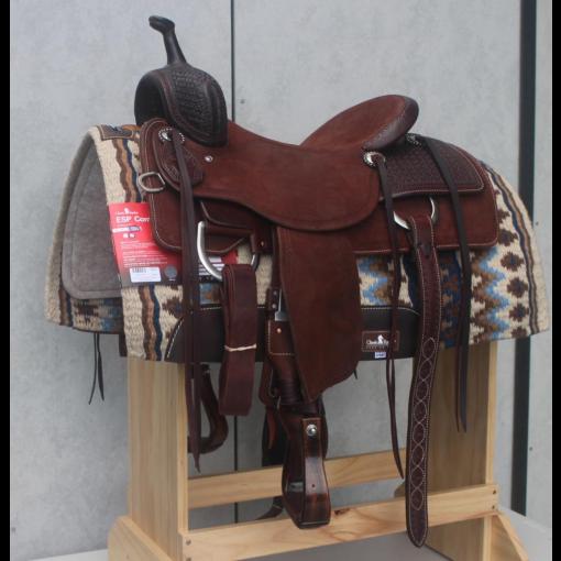 """Matt Gaines Signature Series 16.5"""" Chestnut Cutting Saddle"""
