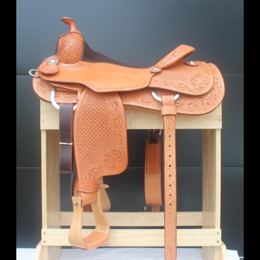 "Martin Natural 16.5"" Reining Saddle #B448"