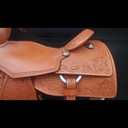 "Martin Natural 16.5"" Reining Saddle #B618"