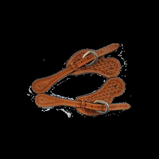 Koolparoo Chestnut Basket Weave Spur Straps IN150940