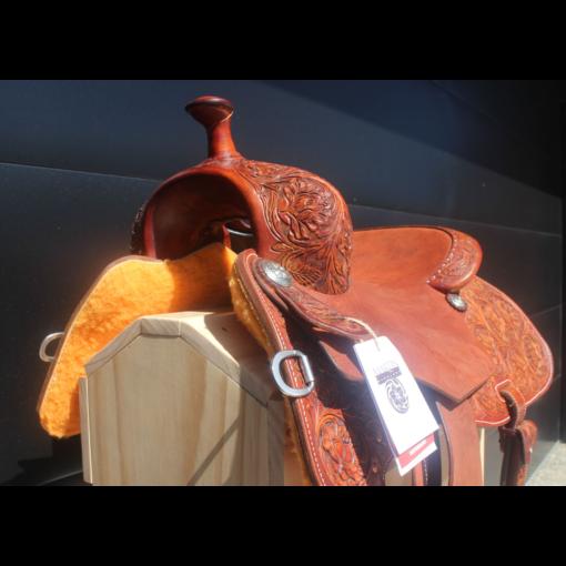 "Martin Natural Antique Finish 16.5"" Performance Saddle. #02978"